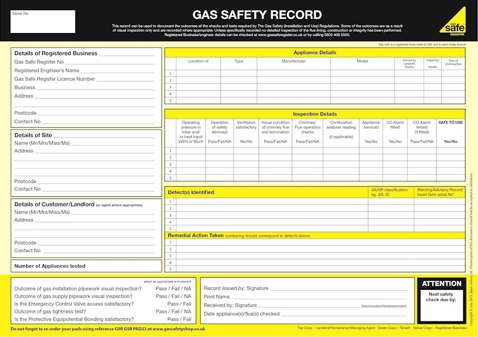 Landlord: Gas Safety Certificates